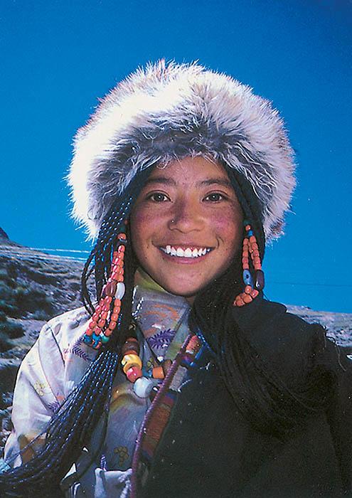 """Gary wintz, """"portrét sličné tibeťanky"""" , 90. léta 20"""