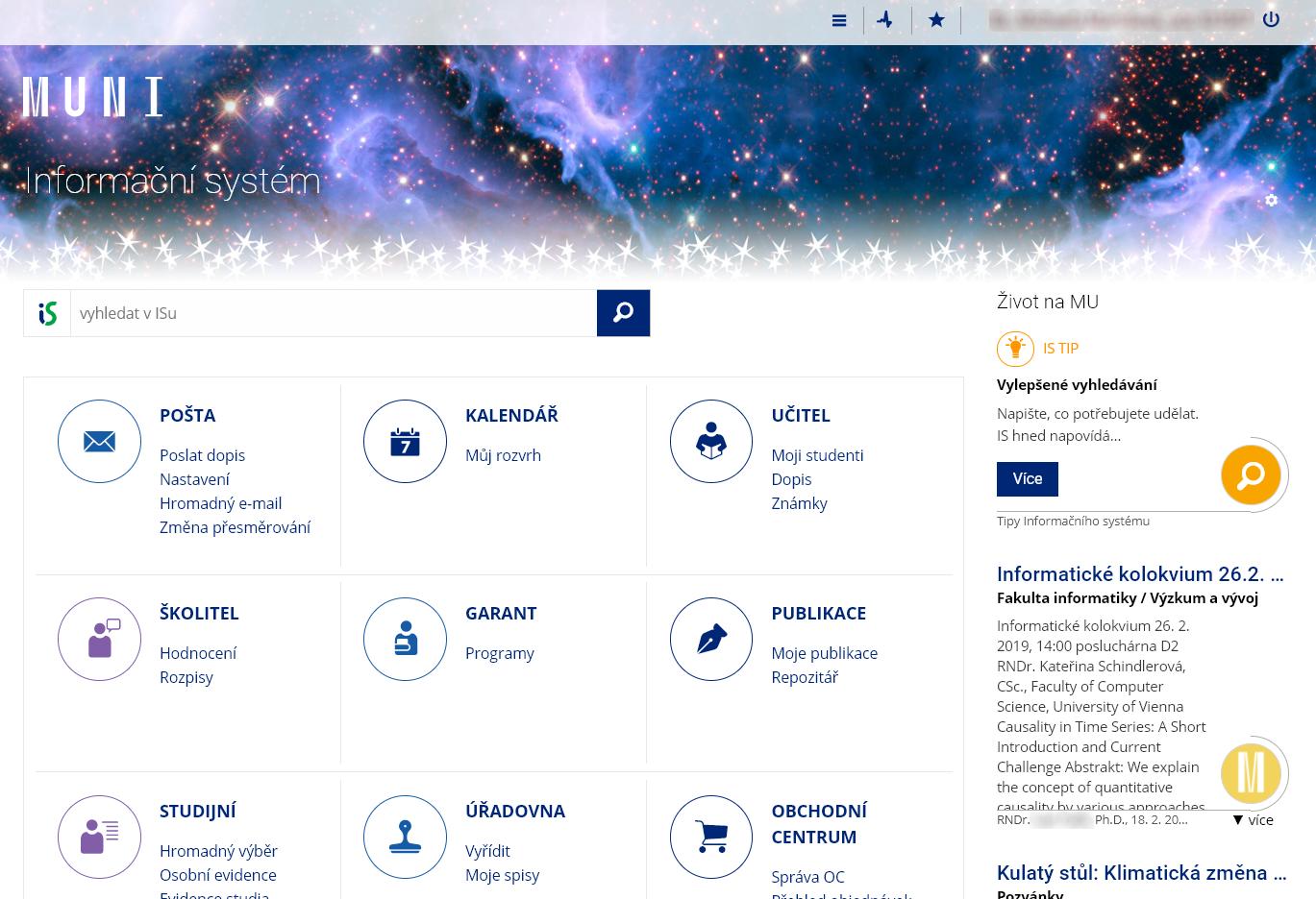 Spuštění seznamovací webové stránky