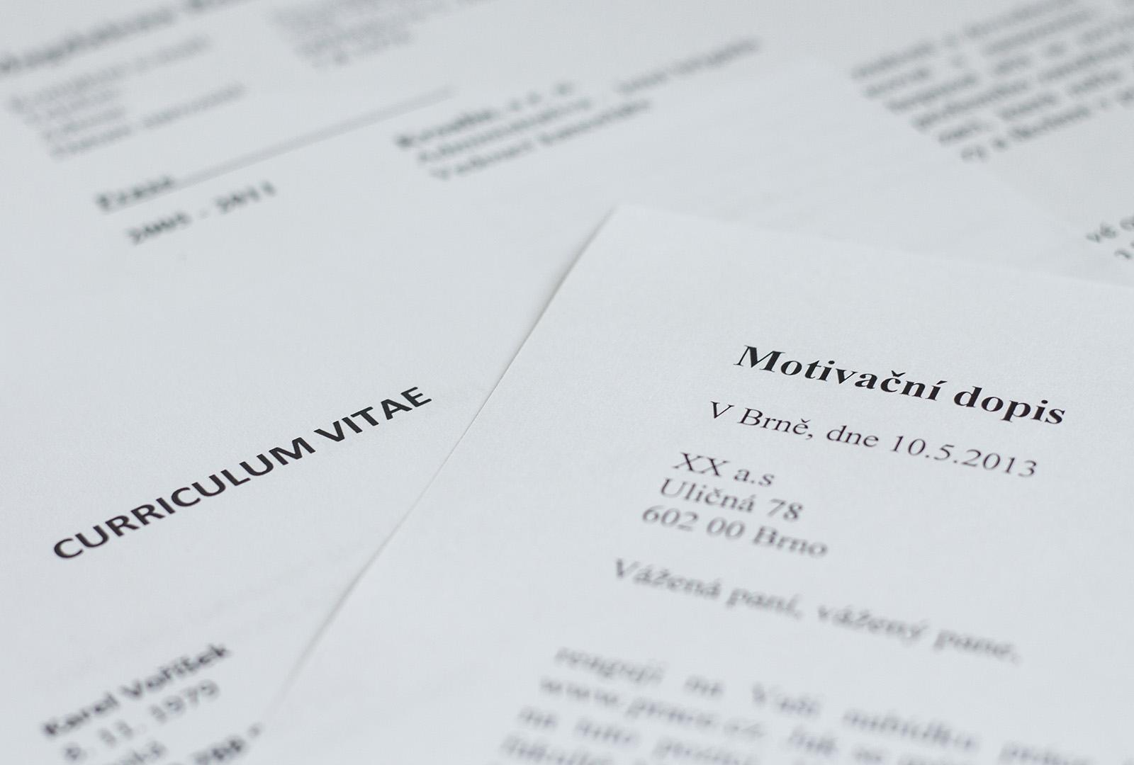 Zivotopis A Motivacni Dopis Pruvodce Personalni Psychologii