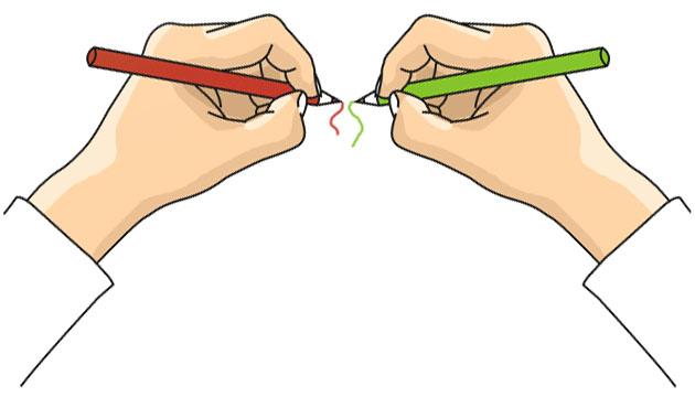 Výsledek obrázku pro držení tužky