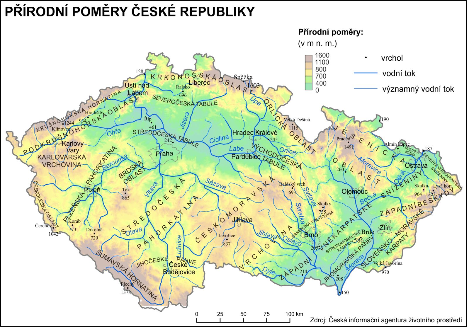 Ceska Republika Tematicky Atlas Pedagogicka Fakulta Masarykovy