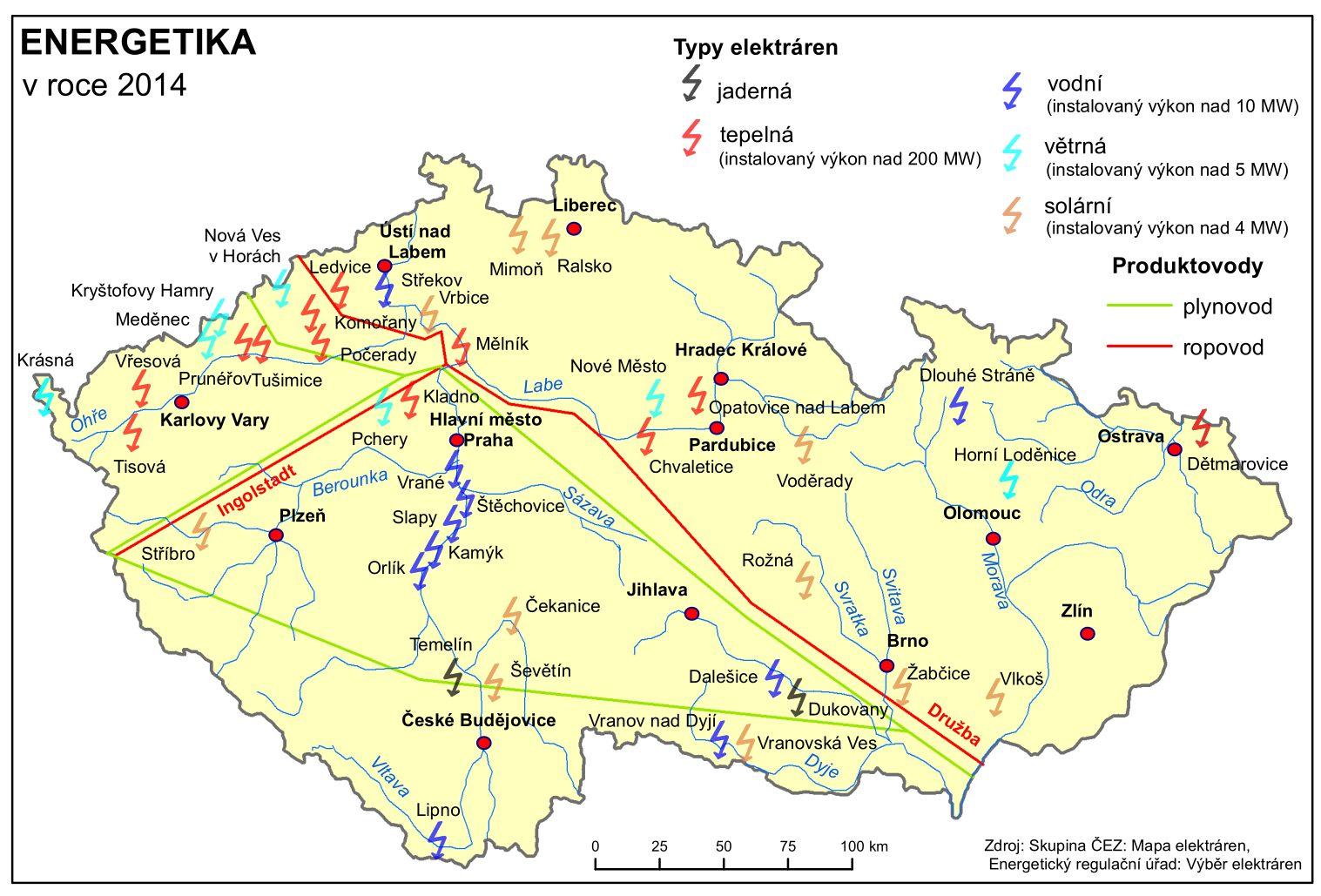 Energetika Ceska Republika Tematicky Atlas Pedagogicka