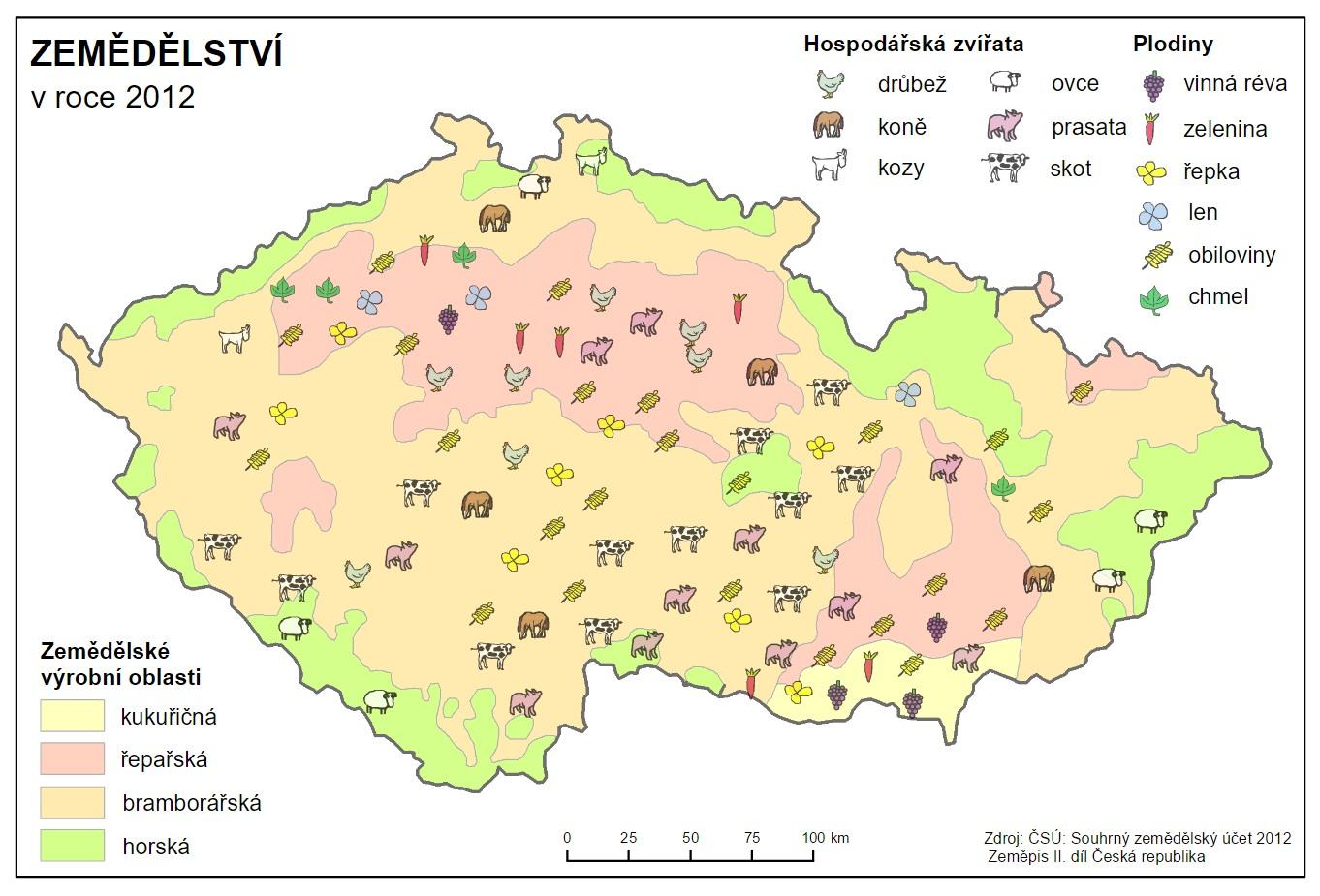 Mapa Mapa Zemedelstvi Cr