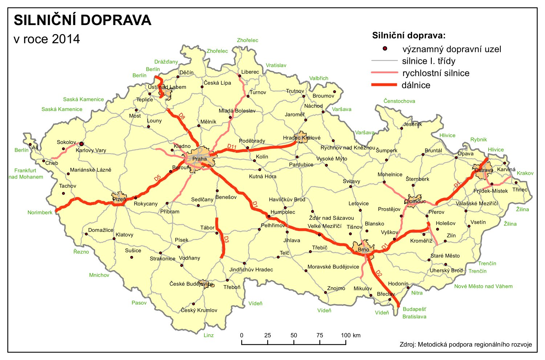 Doprava Ceska Republika Tematicky Atlas Pedagogicka Fakulta