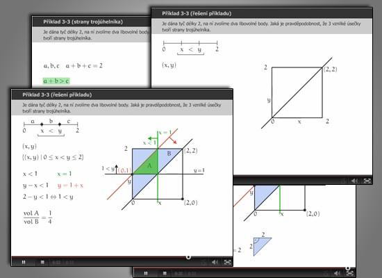 Řešené videopříklady s komentářem vyučujícího pomáhají lépe pochopit vyučovanou látku