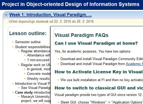 Interaktivní osnova provází studenta semestrem